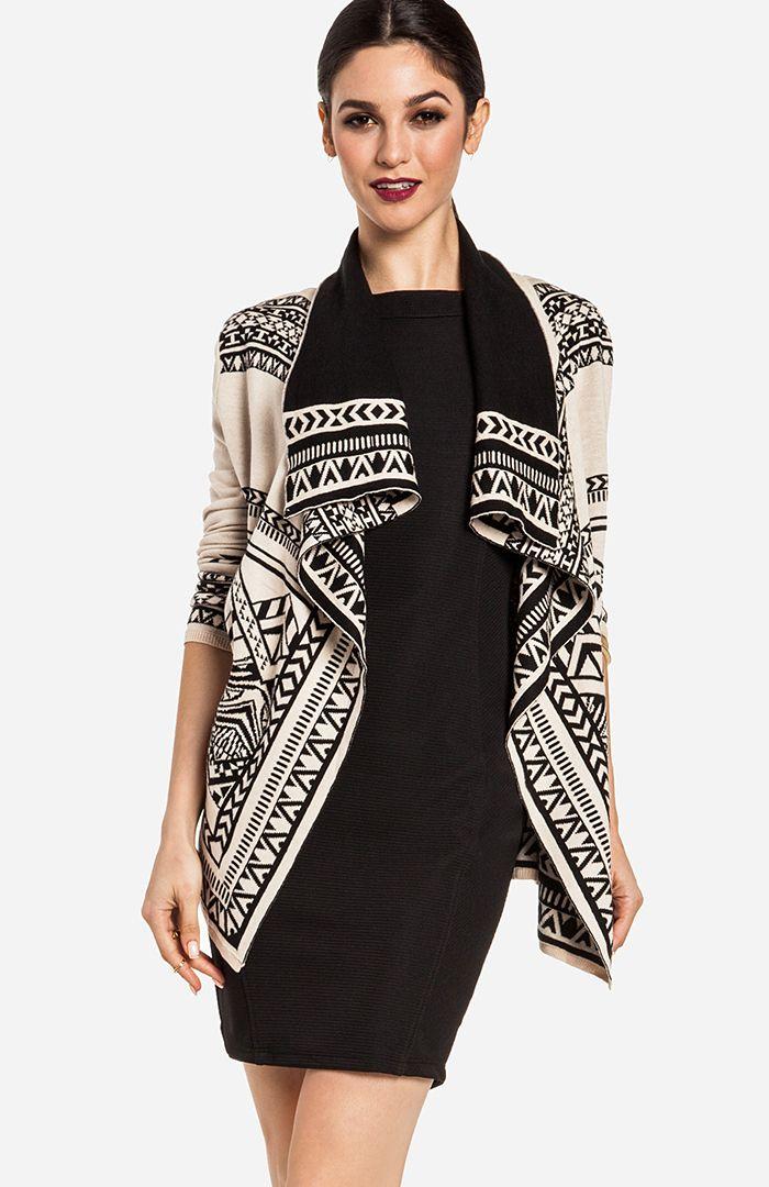Scenic Tribal Print Sweater