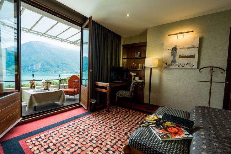 Chambre Prestige avec vue sur le Lac d'Annecy - Hôtel luxe Haute-Savoie - Les Trésoms