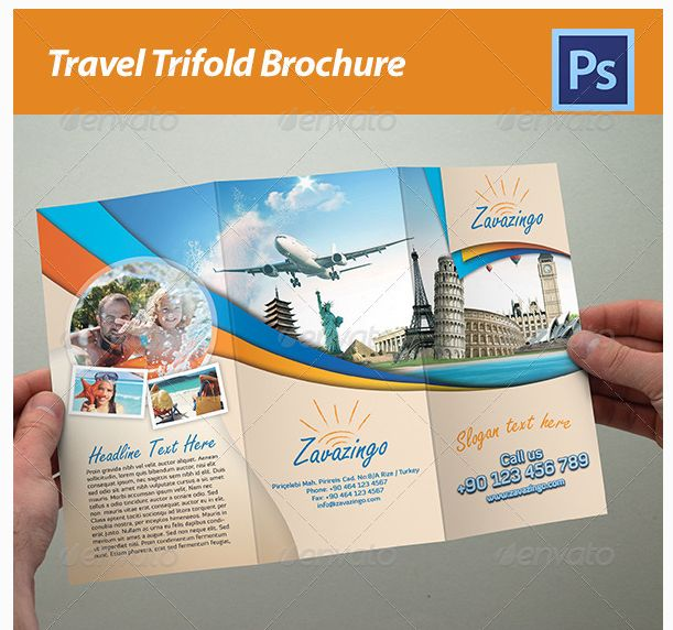 20 besten Travel Brochure Examples With Enticing Designs Bilder auf ...