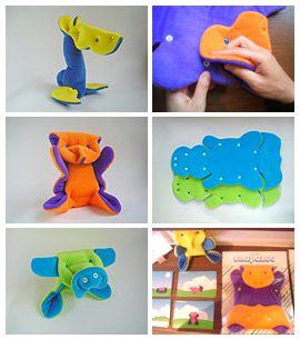 How to Make a Snapazoo Interactive Shape-Shifter Toy/ free pattern: Fabrics Toys, Crafts Ideas, Shape Shift Toys, Crafts Projects, Fabrics Origami, Kam Snap, Baby Toys, Crafts Time, Animal Shape