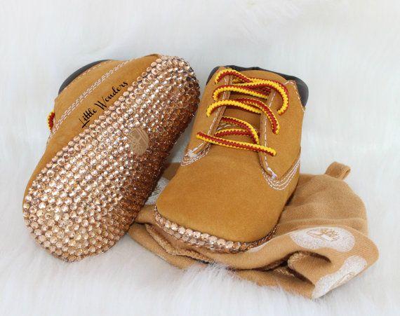 Swarovski Rhinestone Infant Timberland Boots by xLittleWondersx