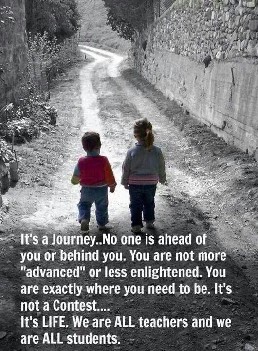 It's a journey........