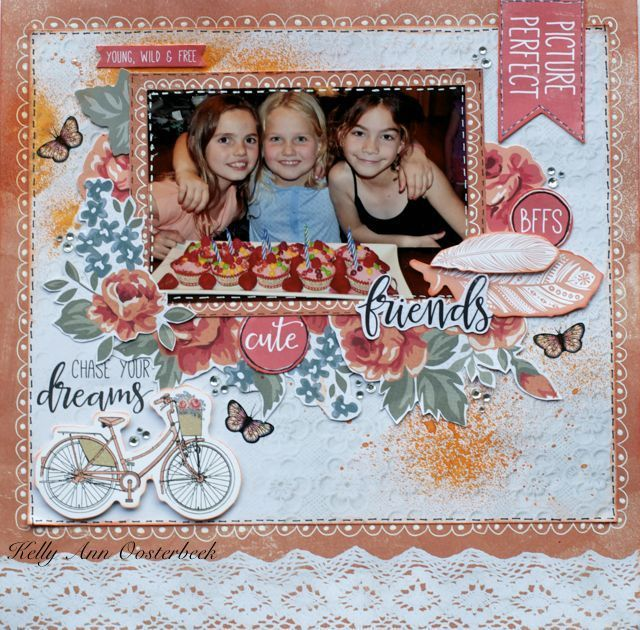 A Layout by Kelly-ann Oosterbeek made using the Boho Dreams Collection from Kaisercraft. www.kellyanno.com