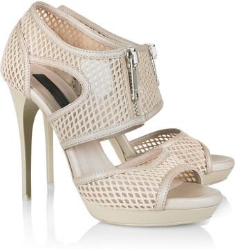 BurberryShoes Craze, Mesh Sandals, Shoes Open, Prorsum Leather, Burberry Leather, Ivory Mesh, Burberry Prorsum, Beautiful Shoes, Couture Style