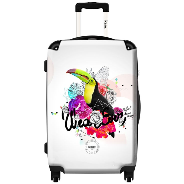 iKase Pelican 20-inch Fashion Hardside Carry-on Spinner Suitcase