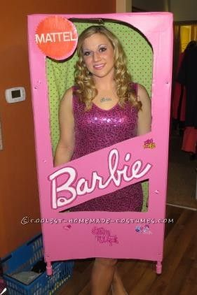 pink and sparkly barbie in a box halloween costume - Halloween Costume Barbie