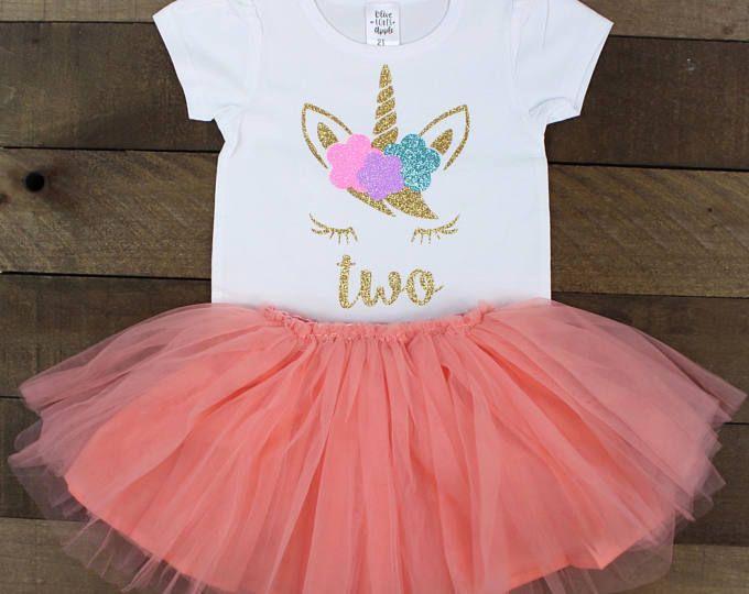 Unicorn 2nd Birthday Outfit Girl  2f3dd5808