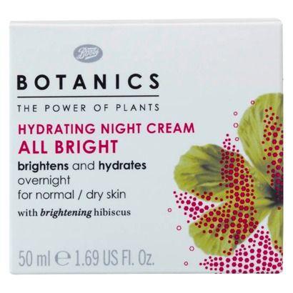Boots Botanics All Bright Hydrating Night Cream - 1.69 oz