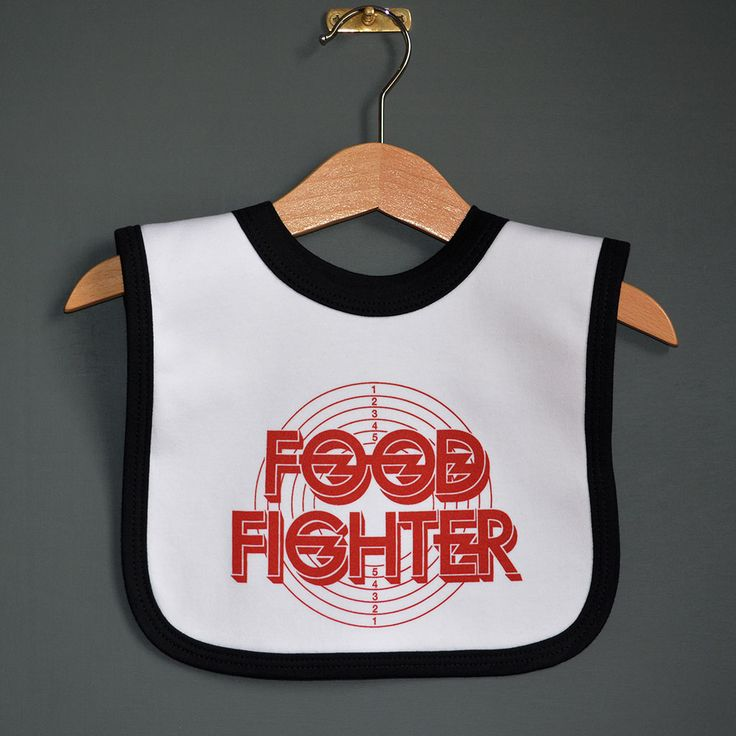 Xmas gift for Foo Fighter fans! Rock baby Food Fighter Bib from www.nippazwithattitude.com