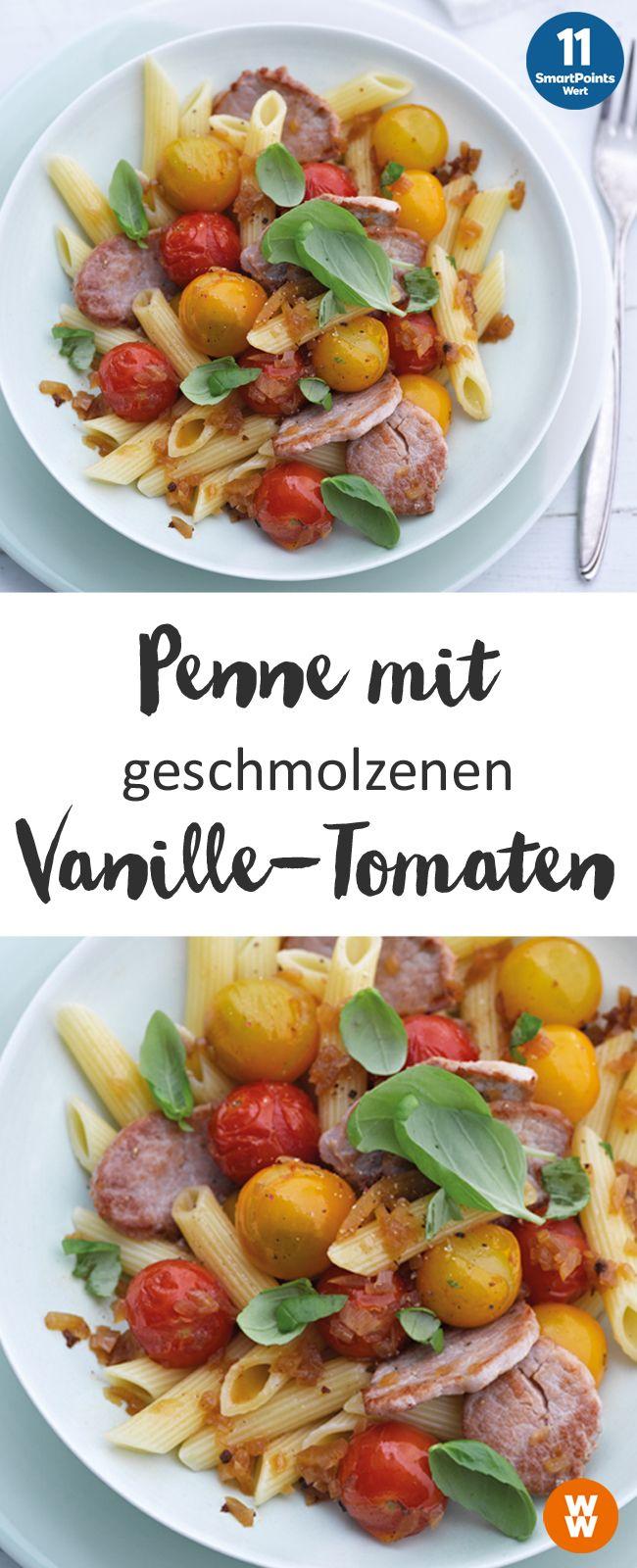 Penne mit geschmolzenen Vanille-Tomaten, Nudeln, Hauptgericht, Mittagessen, Abendessen | Weight Watchers