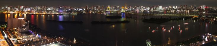 Fuji TV sphere observatory panorama (auto scroll) フジテレビ球体展望台 パノラマ写真自動スクロール3