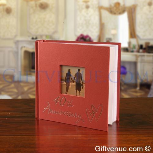 A 40th Ruby Wedding Anniversary Gift Photo Album. Gifts for couples 40 years married