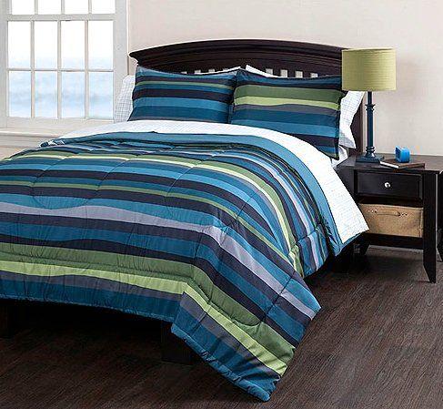 Beach Life Striped Twin Xl Comforter Sheet Set And Sham
