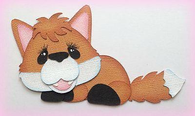 Fox animal al aire libre prefabricados juntar las piezas de papel 3D Die Cut por mi lágrima Osos Kira
