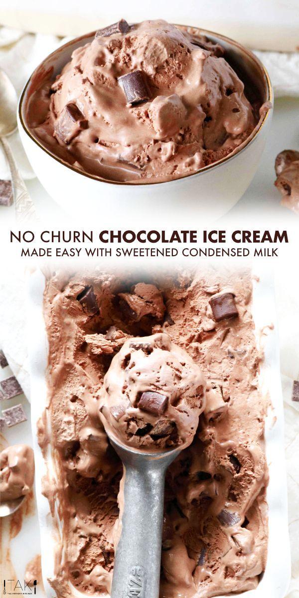 Kein Churn Schokoladeneis In 2020 Schokoladeneis Schokoladen Eis Hausgemacht