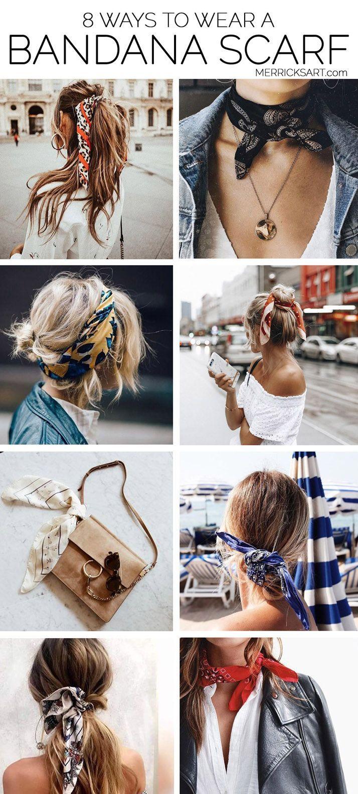 8 Möglichkeiten, einem Outfit einen Bandana-Schal hinzuzufügen #bandana #eine…