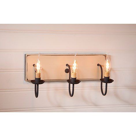 Three arm sturbridge series vanity light in 4 colors country style curtains country decorrustic decorprimitive