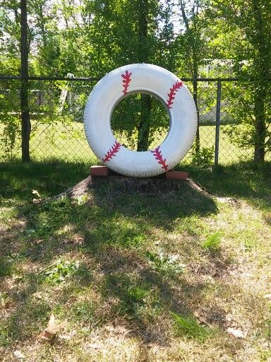 Made my son a pitching target out of an old tire ;) Great practice & he loves it!