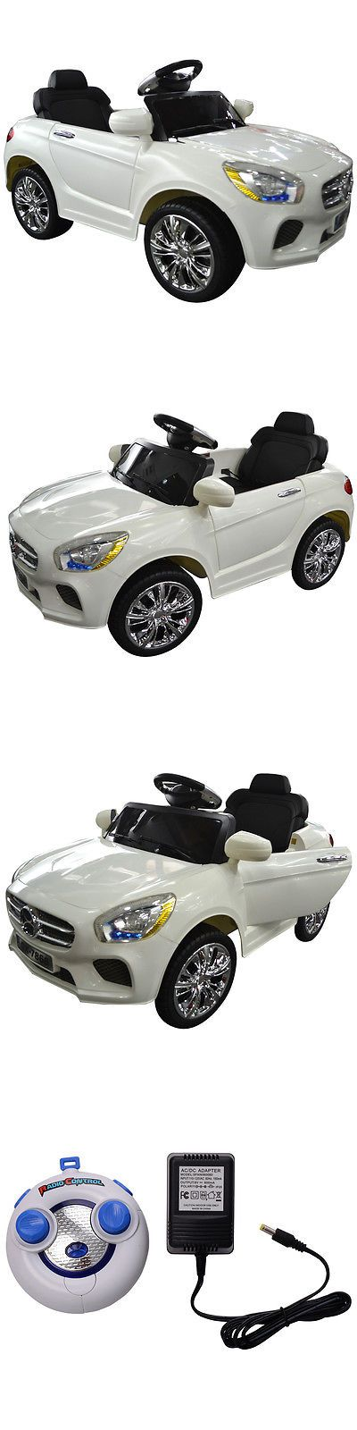 Ride On Toys and Accessories 145944: 6V Kids Ride On Car Rc Remote Control Battery Powered W Led Lights Mp3 White -> BUY IT NOW ONLY: $119.95 on eBay!