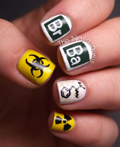 For all the fans of #BreakingBad: Check out this #nailart dedicated to Walt and Jesse! @Sammersaurus