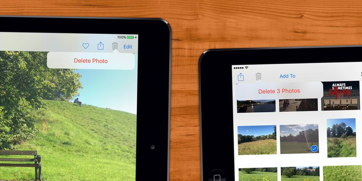 how to delete pictures from moments on ipad