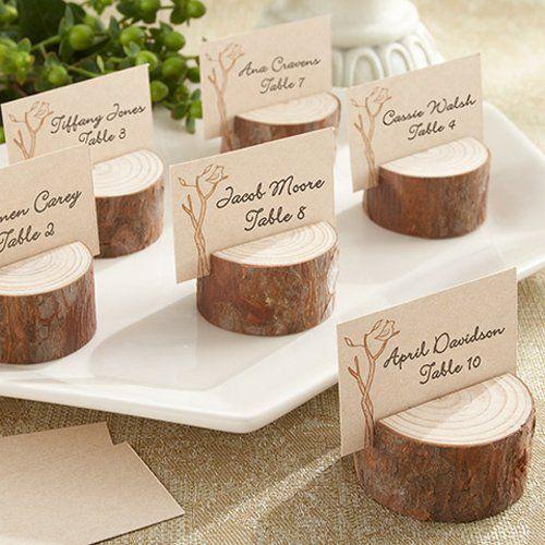 Rustico Real Wood carta del posto / Photo titolari