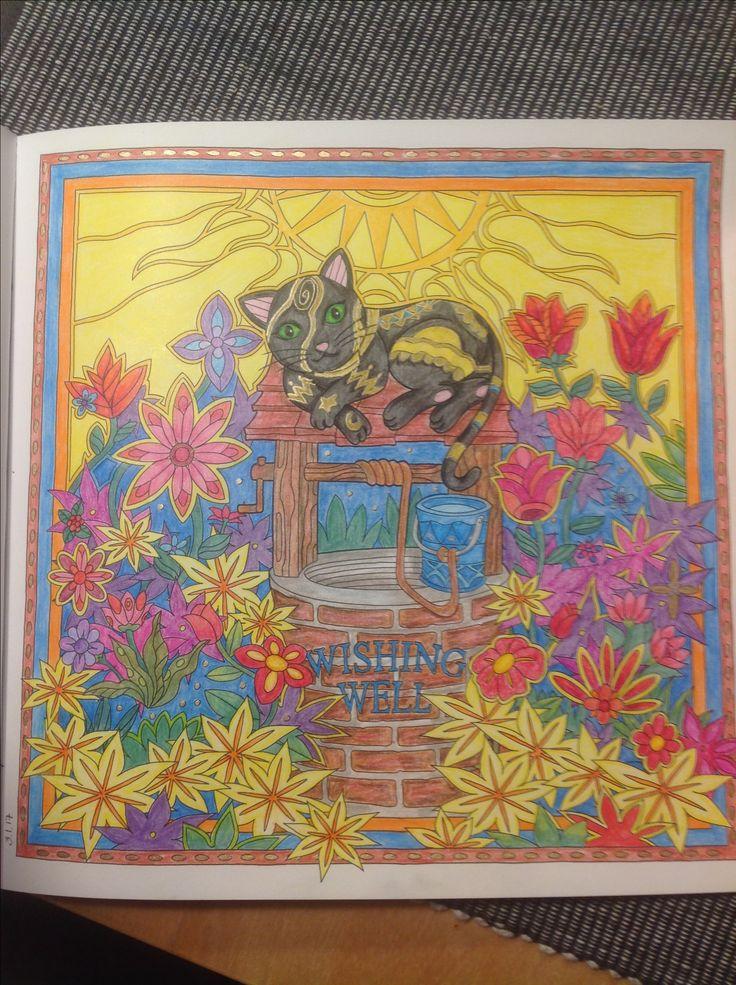 Mystical cats in secret places, color by me (Seija)