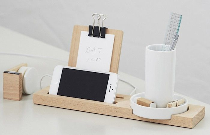 W+W Stationary Series Wood Desk Organizer, Remodelista