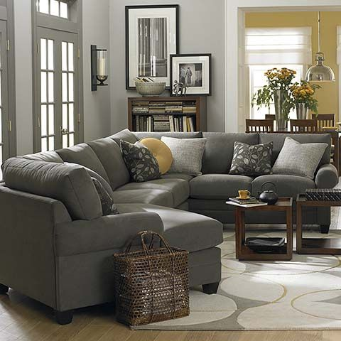 Cuddler Sectional - this is the link to Bassett where they sell it as a right cuddle (which I want) and where you can pick out the fabric. Lucky me there is a store in Houston