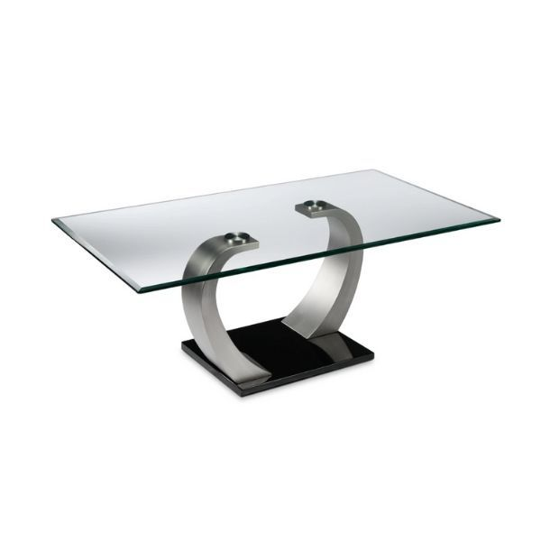 Cassatt Coffee Table Chrome And Black In 2020 Coffee Table