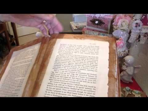 Altered composition book into a Junk Journal - YouTube