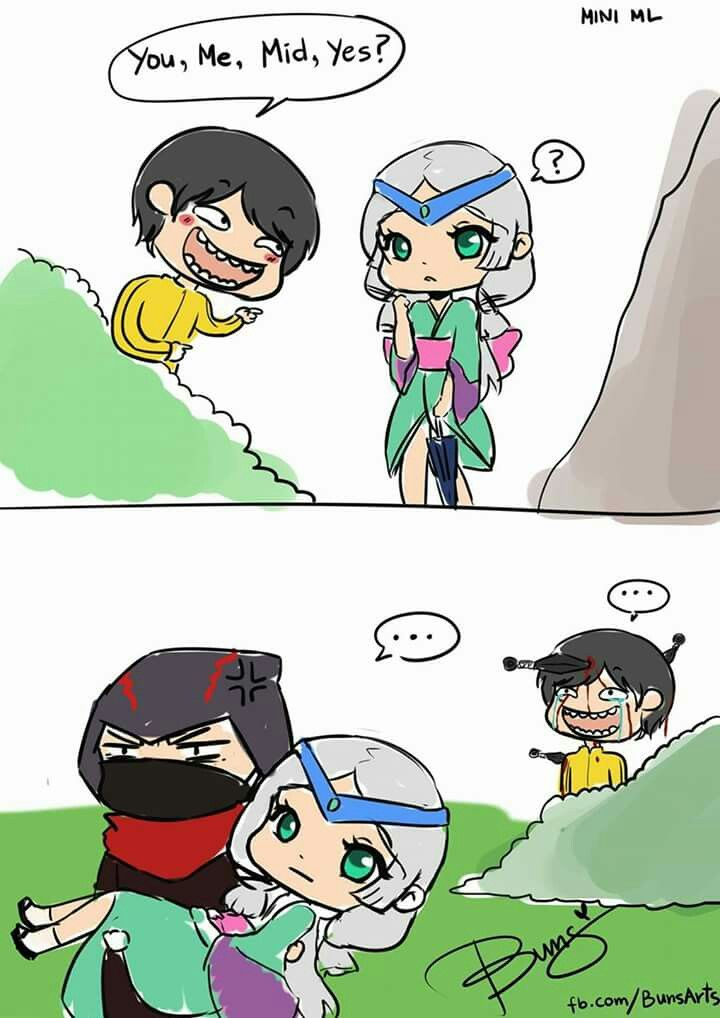 Chou, Kagura, Hayabusa. Fanart Buns. Mobile Legends Bang-Bang.