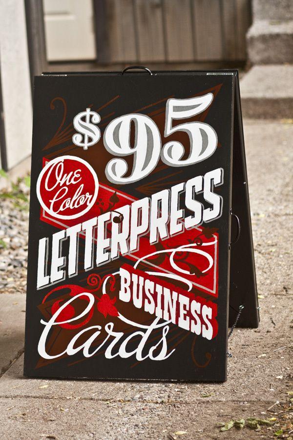 sandwich board typography