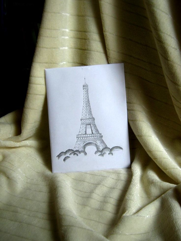 Pencil drawing: Eiffel tower