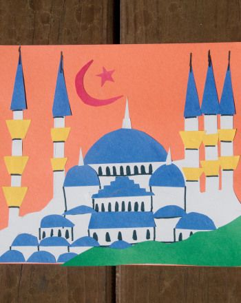 Sultan Ahmed Mosque is often referred to as the Blue Mosque. In this activity, your kid will build his own Blue Mosque just in time for Ramadan!
