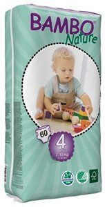 Pieluszki jednorazowe Bambo Nature Maxi 7-18 kg 60 szt tall pack ABENA Toddlersi
