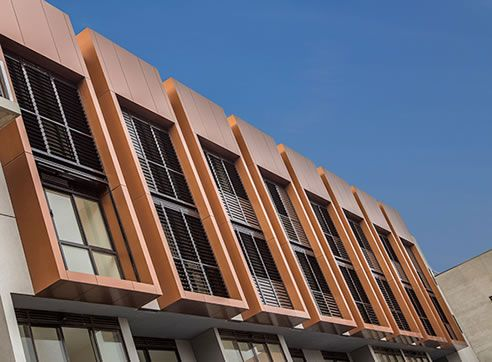 copper building façade Alucobond #metal finishes