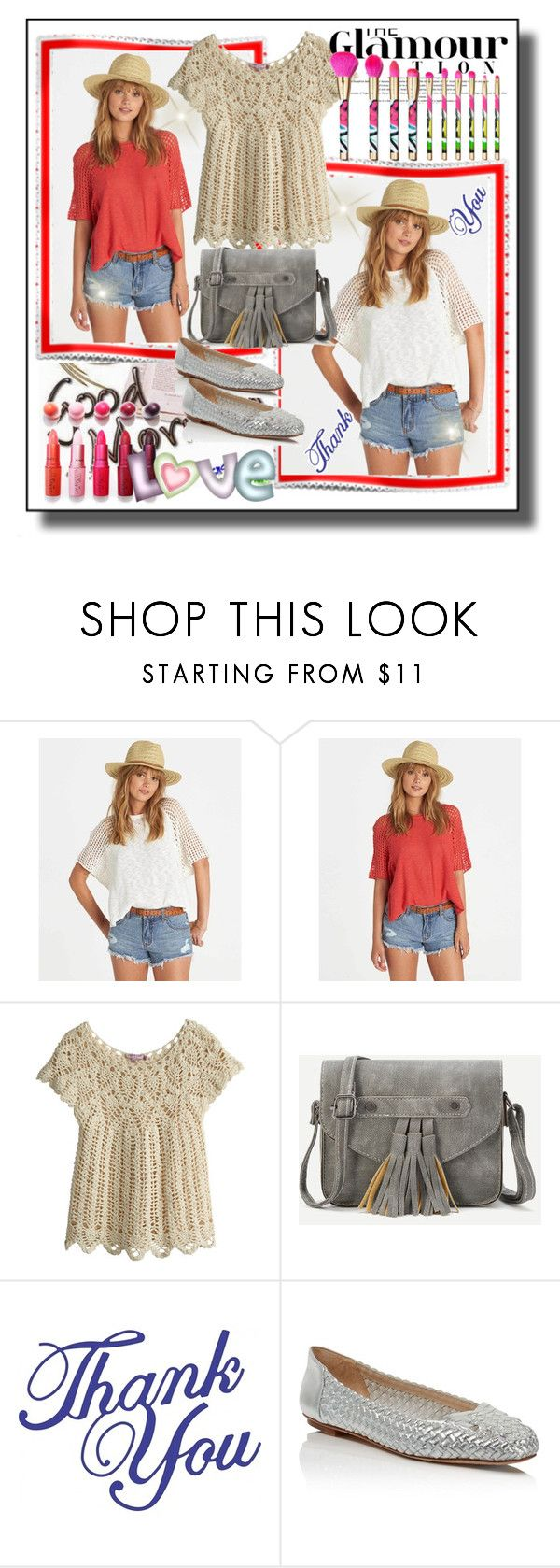 """""""set 69"""" by fahirade ❤ liked on Polyvore featuring Billabong, Calypso St. Barth, MAC Cosmetics and Delman"""