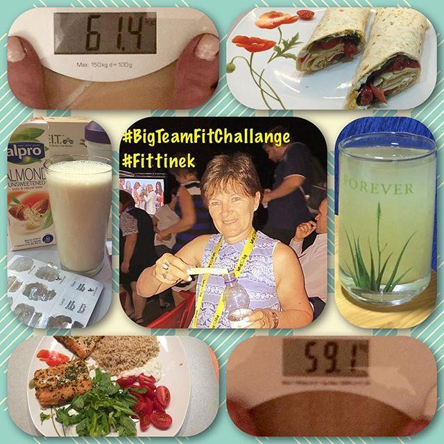 After 9 days...‼️👏❤️😍👍😊☀️👯✔️🌞🎗#BigTeamFitChallange #Fittinek…