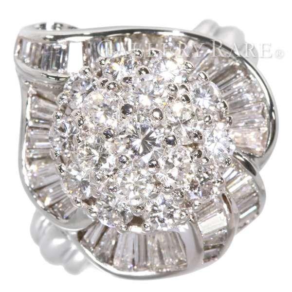 ダイヤモンド リング 3.00ct プラチナ900 PT900 リングサイズ約13号 ジュエリー 指輪 ダイアモンド