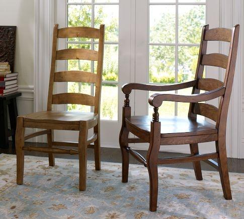 Wynn Ladderback Side Chair Tuscan Chestnut Dream Home
