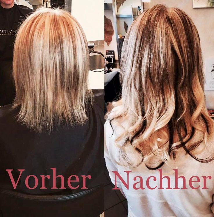 Haarverlängerung Vorher Nachher - #Haarverlängerung #HairTalk  blonde Haare mit Strähnen  #hairextension #hair #extension ✂ Friseur Gute Schnitte Salon Hair Nickel - Marienburger Straße 6, 10405 Berlin - Tel. 030-4427454