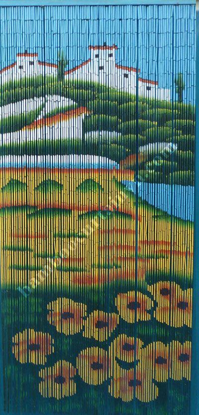 The beautiful castle bamboo bead curtain