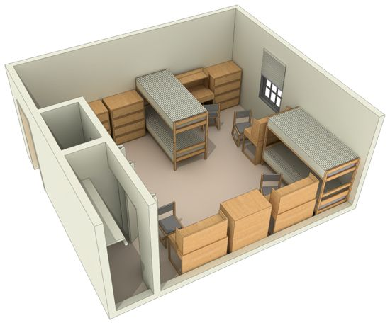 Typical Layout of a Quad Room at University of Maryland