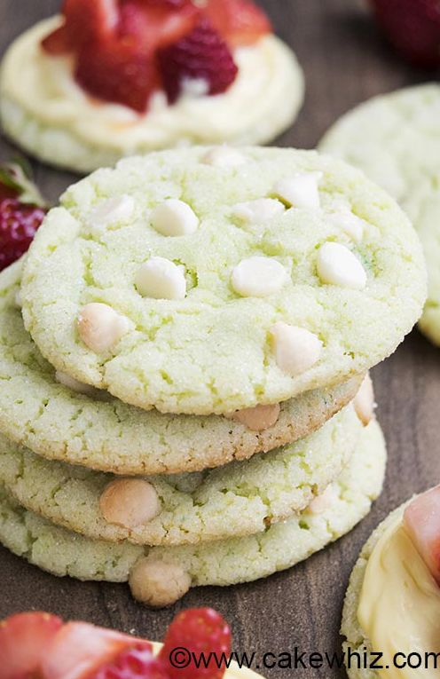 These soft and chewy WHITE CHOCOLATE LIME COOKIES are perfect for Summer parties and picnics. Packed with lime zest and very easy to make! From cakewhiz.com