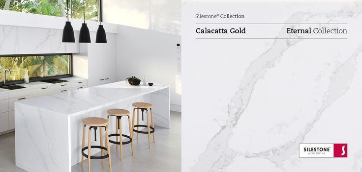 Silestone Eternal Calacatta Gold, the crown jewel of this Series, is subtle in nature but its bold refine veining draws similarities from the coveted look of marble. #design #interiordesign
