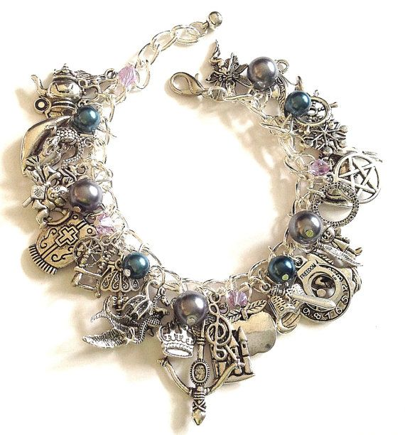 Once Upon A Time Jewelry Charm Bracelet , Story Book TV show bracelet, gift, jewelry. $33.99, via Etsy.