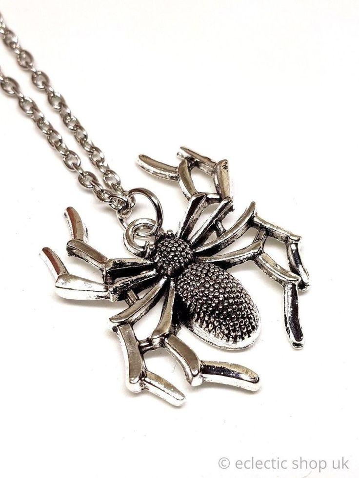 Eclectic Shop Uk Skull Gothic Statement Necklace Long Chain Bohemian Boho Pendant aXPWnU