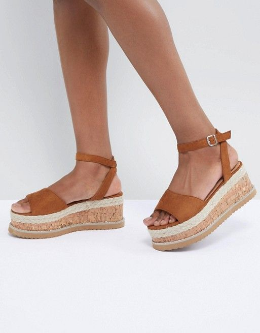 dd2e50856e4 Boohoo Platform Espadrille Sandals