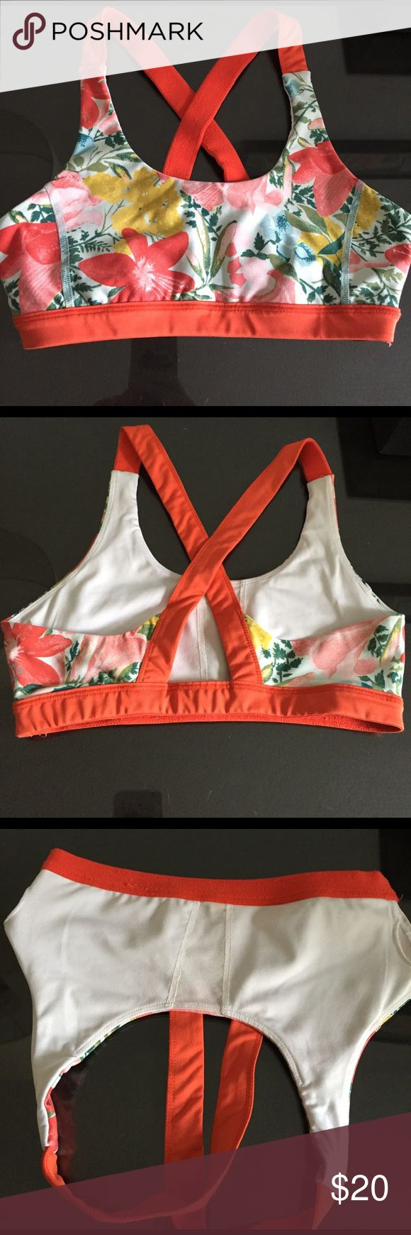 Urban Outfitters Without Walls floral sports bra Pretty sports bra from Urban Outfitters sportswear line Without Walls. Orange and flower print, no cups/push-up. Used but great condition. Without Walls Intimates & Sleepwear Bras